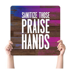Colorful Wood Praise Hands