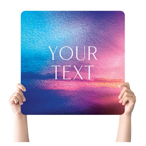 Love Easter Colors Your Text Handheld sign