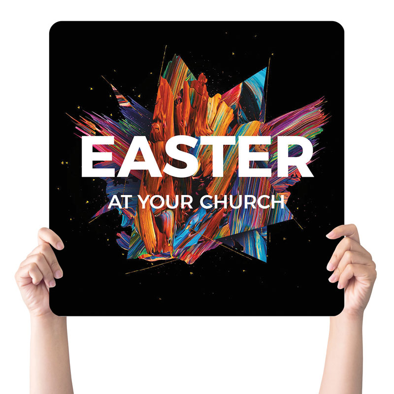 Handheld Signs, Easter, CMU Easter Invite 2021, 21 x 21