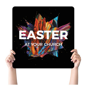 CMU Easter Invite 2021 Handheld sign