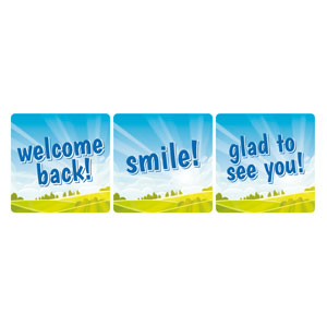 Bright Meadow Children's Ministry Set Handheld sign