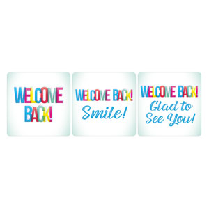 Welcome Back Colors Set Handheld sign