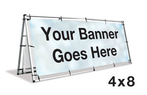 A-Frame Banner Stand - 4 x 8  Signs and Stands