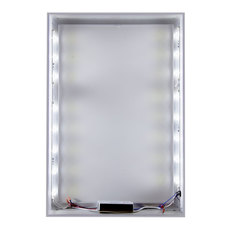 Quick Change Silver Backlit Frame Displays & Stands
