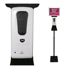 Touchless Hand Sanitizer Station with Sign Holder