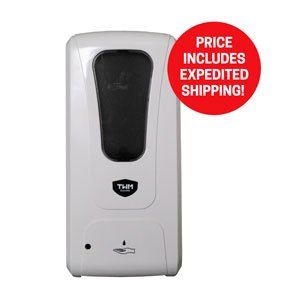 Touchless Wall Mount Hand Sanitizer and Soap Dispenser - Expedited Delivery Signs and Stands