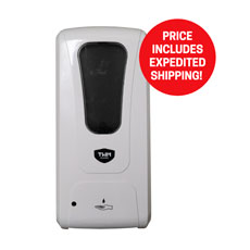Touchless Wall Mount Hand Sanitizer and Soap Dispenser - Expedited Delivery