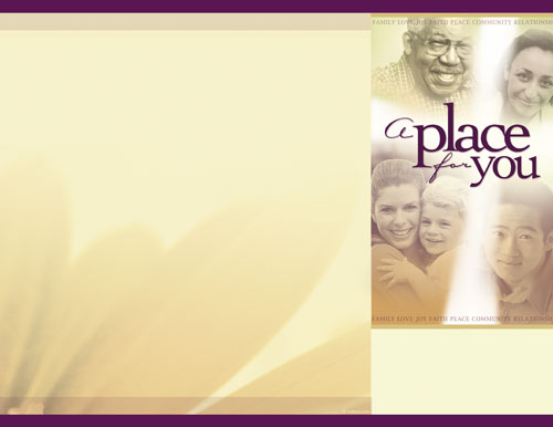 Place for You Brochure - Church Bulletins - Outreach Marketing