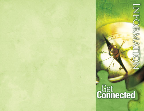 get connected information brochure church bulletins outreach