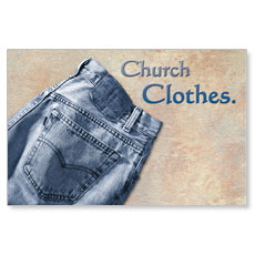 Church Clothes Postcard