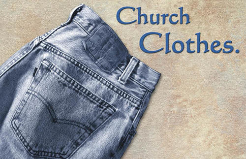 Church Postcards, Church Clothes, 5.5 X 8.5
