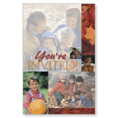 Invited Fall Postcard