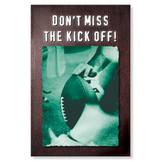 Kick Off Postcard