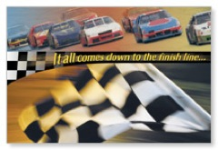 Finish Line Postcard