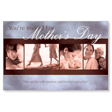 Invited Mothers Postcard