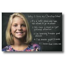 Chalkboard Girl Postcard