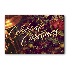 Celebrate Christmas Church Postcard