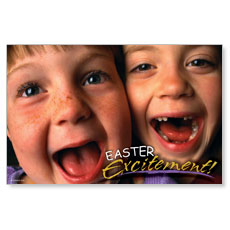Easter Excitement Postcard