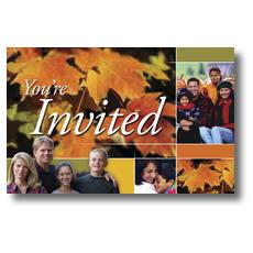 Autumn Invited Postcard