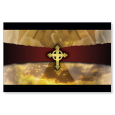 Gothic Cross Postcard