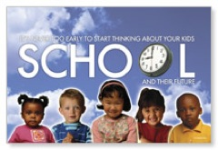 School Time - PreSchool Postcard