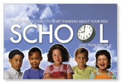 School Time Postcard