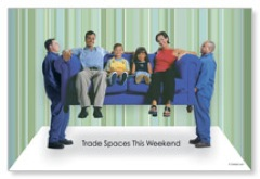 Trading Spaces Postcard