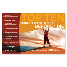10 Things Postcard