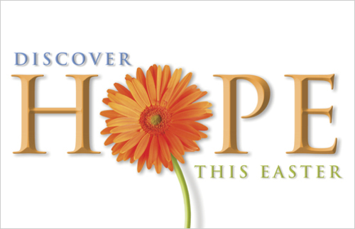 Church Postcards, Easter, Discover Hope, 5.5 X 8.5