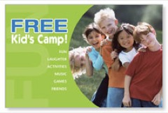 Kids Camp Postcard