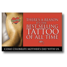 Mom Tattoo Postcard