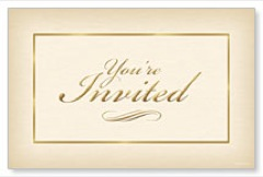 Formal Invitation Postcard