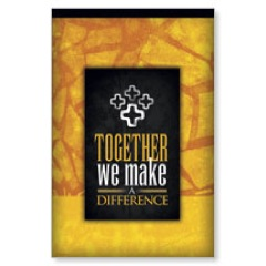 Make a Difference Gold Postcard