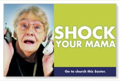 Easter Shock Postcard