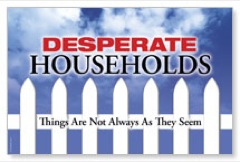 Desperate Households Postcard