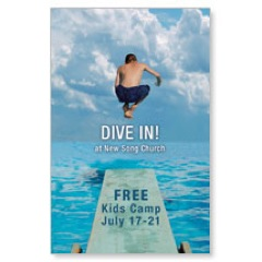 Dive In Postcard