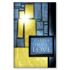 Stained Glass Blue Postcard