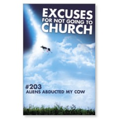 Cow Excuse Postcard