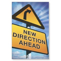 New Direction Ahead Postcard