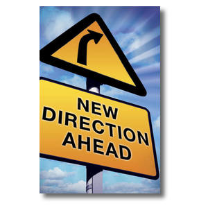 New Direction Ahead Church Postcards