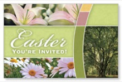 Easter Trees Postcard