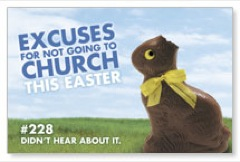 Bunny Excuse Postcard
