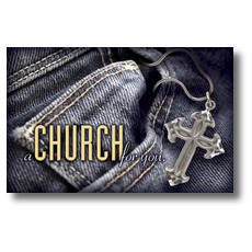 Denim Cross Postcard