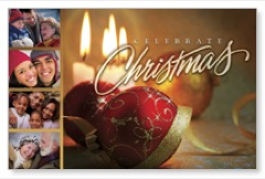 Christmas Faces Postcard