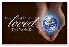 God So Loved Postcard