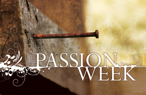 Passion Week Postcard Church Postcards Outreach Marketing