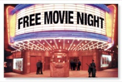 Free Movie Night Postcard