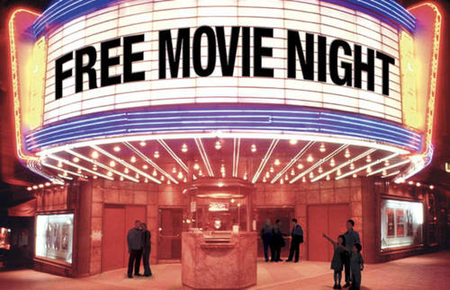 free movie night postcard - church postcards