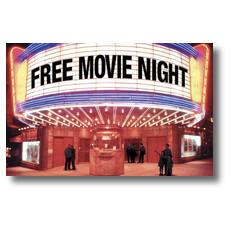 Free Movie Night Postcard