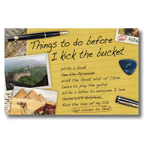 Bucket List Postcards